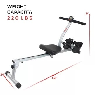 Sunny Health & Fitness SF-RW1205 Rowing Machine is our top choice for best rowing machine for small spaces
