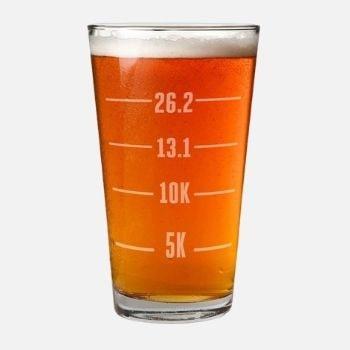Runner's Measurements Engraved Beer Pint Glass