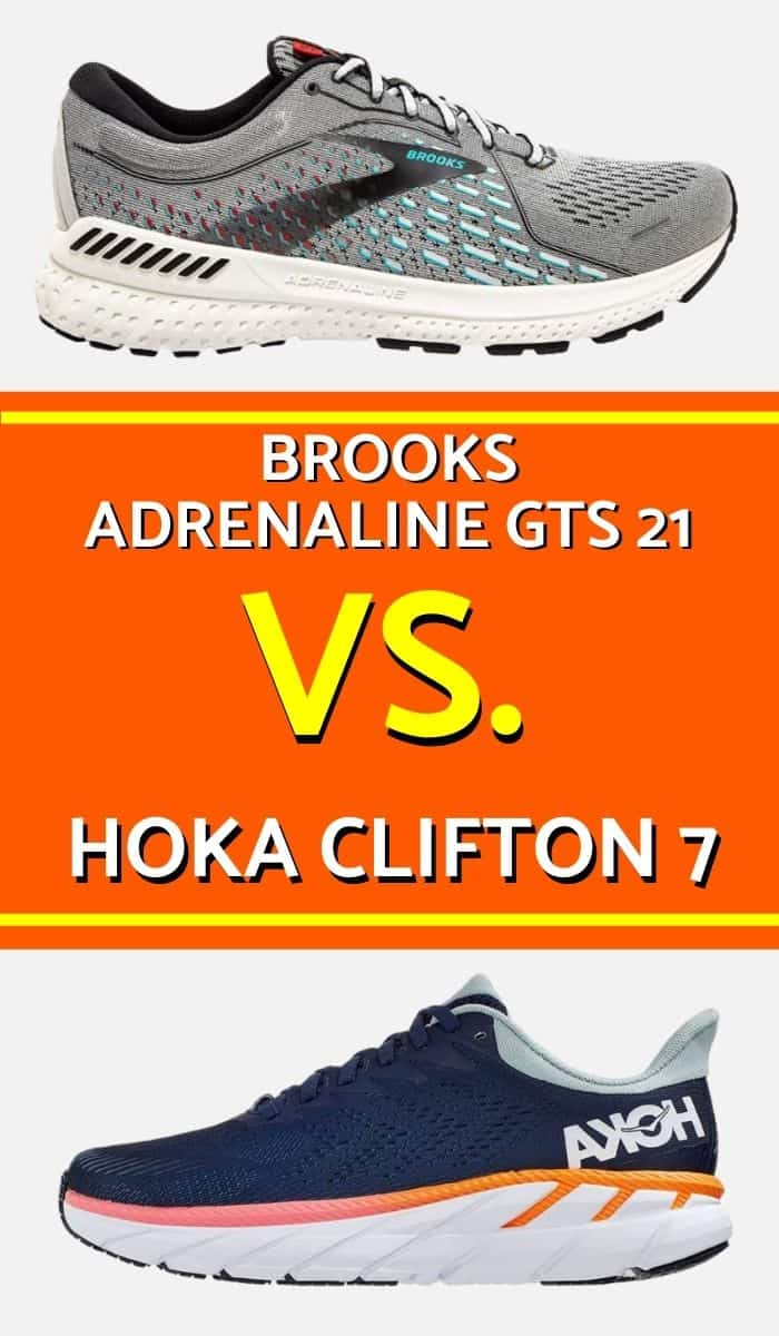 Brooks Adrenaline vs Hoka Clifton Pinterest-min