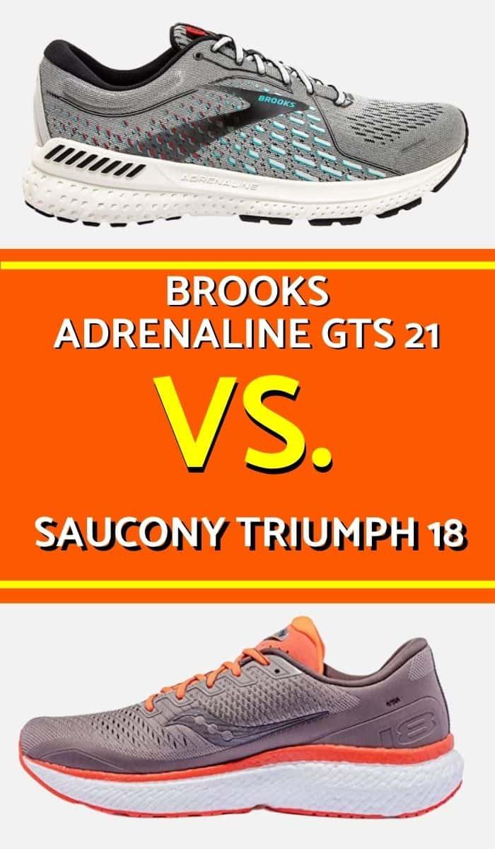 Brooks Adrenaline and Saucony Triumph-min