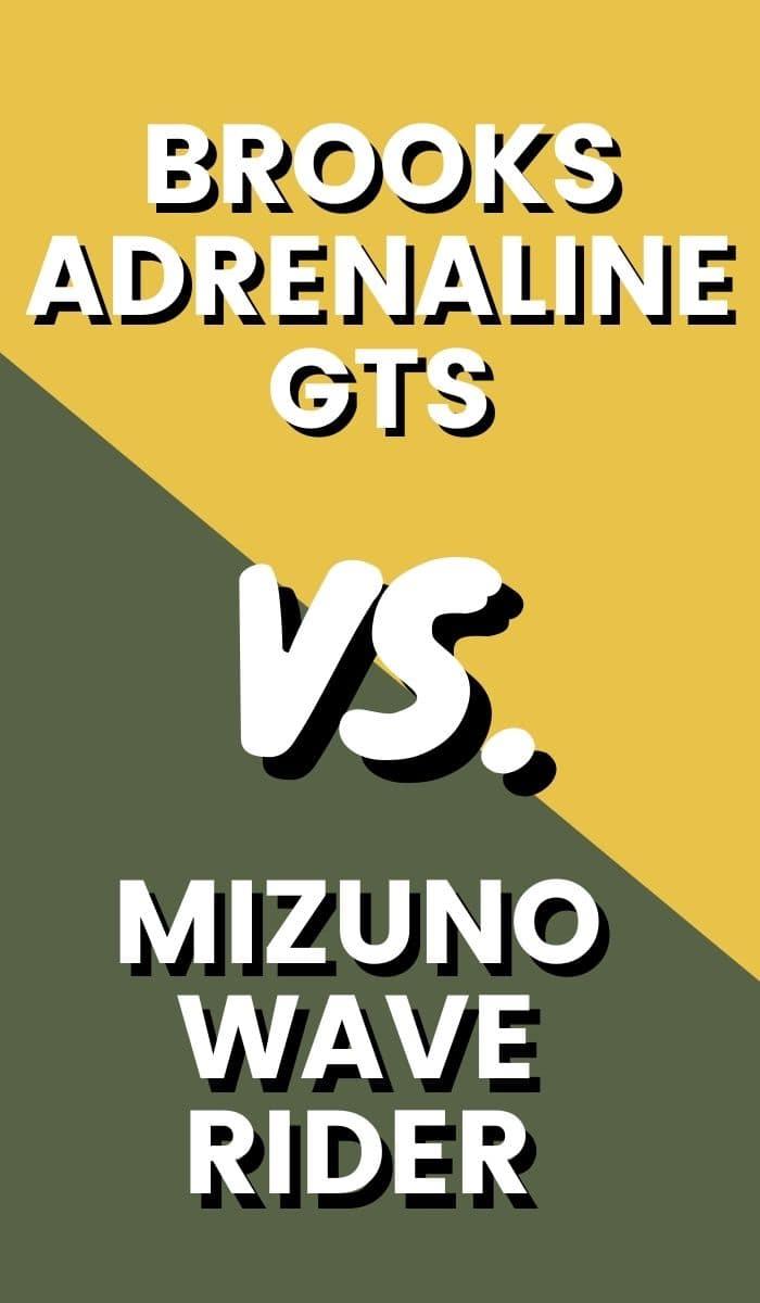 Brooks Adrenaline vs Mizuno Wave Rider Pin-min